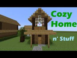 how to build a cabin house minecraft tutorial how to build a small cozy house cabin youtube