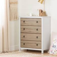 Armoire Changing Table South Shore Catimini 3 Drawer Pure White And Rustic Oak Changing