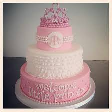 cake toppers for baby showers pink and white princess theme baby shower cake decoration