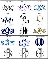 3 letter monogram a slice of embroidery styles
