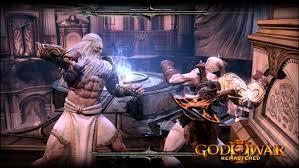 film god of war vs zeus god of war iii remastered game ps4 playstation
