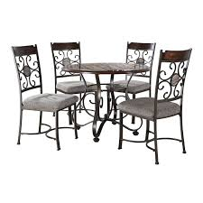 5 piece milan faux marble dining set at home at home