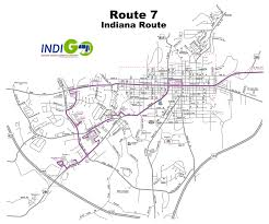 Map Route Route 7 Bus Route Schedule And Fares Indiana County Transit
