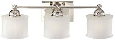 Polished Nickel Bathroom Fixtures Minka Lavery 6733 1 613 1730 Series 3 Light Bath Fixture