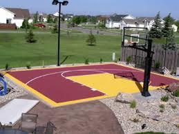 Building A Backyard Basketball Court Outdoor Basketball Court Tile For Backyard Courts
