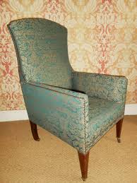 Upholstered Armchair by Edwardian Damask Upholstered Armchair 300110 Sellingantiques Co Uk