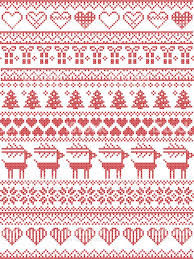 scandinavian nordic style winter stitching seamless