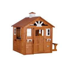 backyard discovery summer cottage all cedar playhouse 6613com