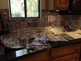 Diy Tile Kitchen Backsplash Dusty Coyote Mexican Tile Kitchen Backsplash Diy With Mexican