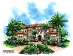 mediterranean house plan treviso bay weber design group print