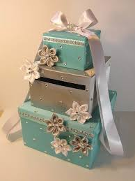 wedding gift card ideas wedding card box blue and silver gift card box money box holder