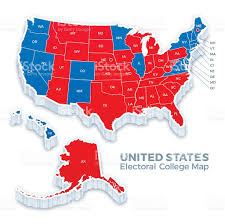 Red State Map by United States Presidential Election Electoral College Map 2016
