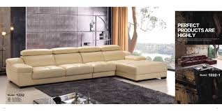 L Shaped Sectional Sofa Luxury Modern Living Room Italy Genuine Cow Leather Sofa L Shape