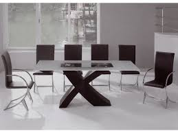 glass dining room table set 55 dining table set contemporary extendable clear glass top leather