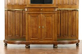 sold english antique oak hall foyer or dressing area stand