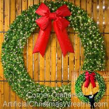 8 foot led lighted wreath artificialchristmaswreaths