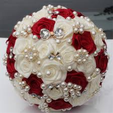 Cheap Wedding Bouquets Online Get Cheap Bridal Bouquet Red Aliexpress Com Alibaba Group