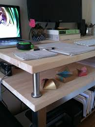 Ikea Desk Stand Taking A Stand Ikea Hack Desk Allegro Design