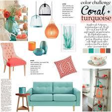polyvore home decor color challenge coral turquoise polyvore coral color home decor