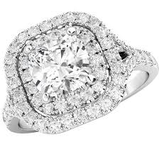 art deco style ring cluster engagement ring for women in platinum