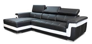 canape angle noir et blanc canape d angle à gauche albion noir blanc
