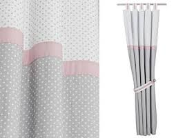 Pink And Grey Nursery Curtains Baby Curtains Etsy