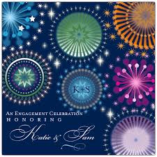 Engagement Party Invites Fireworks Sky Engagement Party Invitations Paperstyle