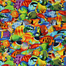 Tropical Home Decor Fabric Tropical Print Fabric Fishes U2013 Home Design And Decor