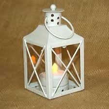 small tea light candles small white metal lantern w battery operated tea light candle