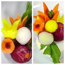 eatables arrangements how to make vegetable garnish food decoration plating garnishes
