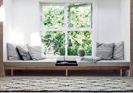 plush tiny home design with window reading nook feat storage sofa