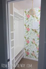 how to build custom closet shelves view along the way