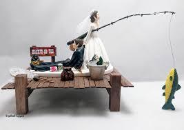 fishing funny wedding cake topper bride and groom custom 2630941