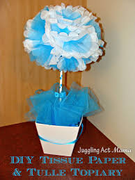 diy tissue paper u0026 tulle topiary juggling act mama
