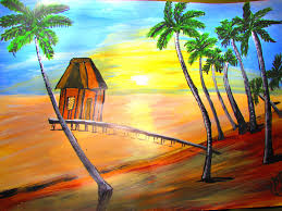 how to make beach house painting acrylic painting youtube