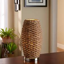 Pineapple Light Fixtures Better Homes And Gardens Rattan Brown Cylinder Uplight Lamp