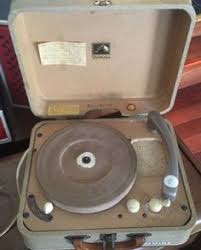 black friday record player 1960s portable stereo record player with 4 speed vm turntable and