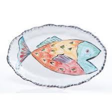 ceramic fish platter decorative fish platters wayfair