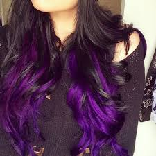 weave hairstyles with purple tips purple hair picmia