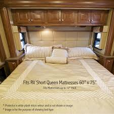 amazon com ultraplush premium rv short queen waterproof mattress