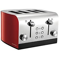 4slice Toasters Morphy Richards 241002 Equip 4 Slice Toaster 1700w Red Amazon