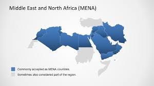Africa Middle East Map by Middle East U0026 North Africa Map Template For Powerpoint Slidemodel