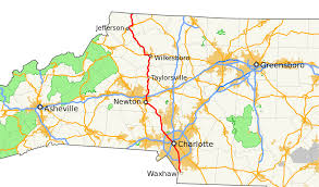 North Carolina State Map by North Carolina Highway 16 Wikipedia