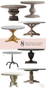 metal patio dining table beautiful round outdoor dining table for 8 with room tables