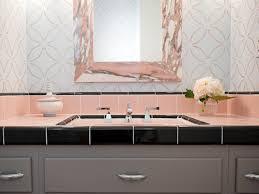 pink and grey bathroom decor
