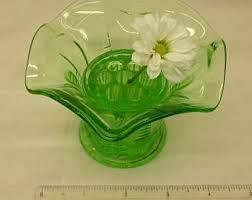 Frog Flower Vase Green Glass Vase Etsy