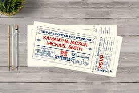 ticket wedding invitations ticket wedding invitation invitation templates creative market