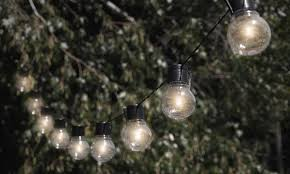 solar powered outdoor light bulbs dynergy globrite solar powered outdoor retro bulb string lights