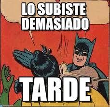 Memes De Batman Y Robin - lo subiste demasiado batman slapping robin meme en memegen