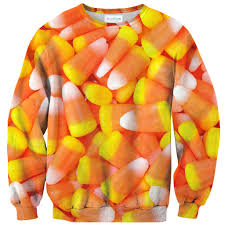candy corn invasion sweater shelfies